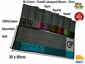 Sports Gym Terry Towel, Camping/Outdoor 100%Cotton, Jacquard, Bi-Color|TOWELLI