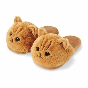Cat Slippers Bedroom Kitten Plush Cute Toy Novelty Shoes Soft Animal Pets Fur