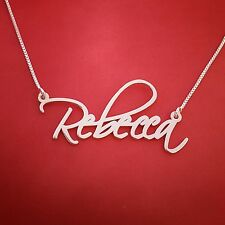 Personalized Name Necklace Custom Made Name Plate Necklace Silver Name Neckless