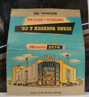 Rare Vintage Matchbook Cover W1 Baltimore Maryland Sears Roebuck Harford & Nor
