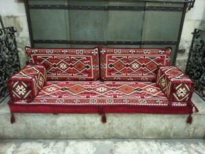ARABIC oriental floor seating jalsa HOOKAH lounge Hard Foam FILLED / HOME 6pcs