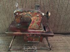 Vintage BERKELEY DESIGNS Copper/Metal MUSICAL BOX Sewing Machine~Works