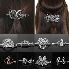 Viking Hairpin Celtics Knots Crown Vintage Metal Hair Clip Women Hair Jewelry