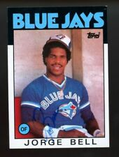 George Bell Autograph Signed 1986 Topps Toronto Blue Jays