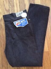 Deadstock Nwt Lee Riders Regular Fit Straight Leg Brown Corduroy Pants 40 x 34