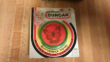 Vintage Duncan Butterfly YoYo,green/orange,80's,rare,new!
