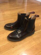 Womens Dr. Martens Flora Chelsea Bootie/Shoe, Burgundy Classic Rub Off, size 8