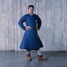 Light Blue Gambeson full Sleeves Medieval Reenactment Historical Padded Aketon