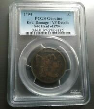 1794 LIBERTY CAP LARGE CENT >S-63,R-3< FALLEN 4 < PCGS VF >SUPER FAST SHIPPING!