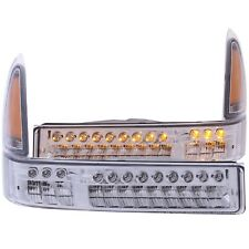 ANZO LED FRONT PARKING/SIGNAL CHROME AMBER for 99-04 FORD EXCURSION / SUPERDUTY