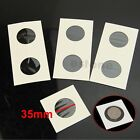 """50pcs 35mm Lighthouse Stamp Coin Holders Cover Case Storage 2X2"""" Flip New"""
