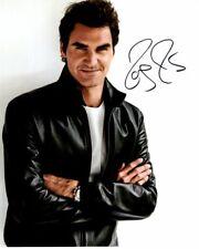 ROGER FEDERER Signed Autographed Photo TENNIS