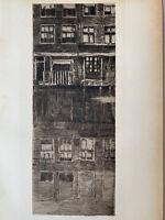Albert BAERTSOEN gravure eau forte etching Reflets Architecture