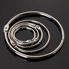 10Pcs Metal Hinged Ring Book Binder Craft Photo Album Split Keyring Scrapbook JR