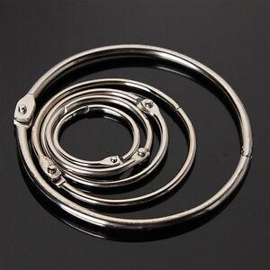 10Pcs Metal Hinged Ring Book Binder Craft Photo Album Split Keyring Scrapbook*AU