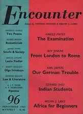 ENCOUNTER MAGAZINE (September 1961)HAROLD PINTER-LAWRENCE DURRELL-JACQUES BARZUN