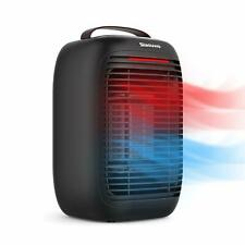Slaouwo Space Heater, 1000W Portable Electrical Space Heater with (Black)