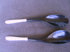 Sterling Silver and Plastic Salad Servers