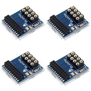 4x Slim 21 Pin DCC Adaptors To Fit 8 Pin Decoder To 21 Pin Models, Ideal For TTS