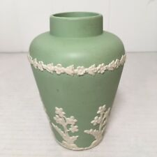 Antique ECanada Art Pottery GEORGE EMERY 1926 Wedgwood Jasperware Green Vase