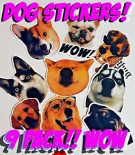 Dog stickers Labrador Corgi Malamute Pug Doge Shiba sticker bomb cute fun happy