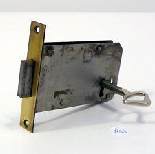 Serratura antica a incasso per mobili funzionante con chiave a53