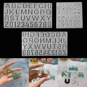 Letter Craft Jewelry Making Tool Epoxy Keychain Mold Resin Mould Silicone Number