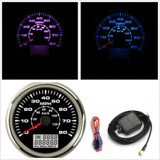 85mm Round 8-Color Backlight Car Digital GPS Speedometer 0-80MPH Odometer Gauge