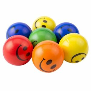 5Pcs/lot 6.3cm Smile Face Foam Ball Toy Hand Wrist Exercise Balls For Children