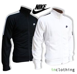 Nike Mens Tracksuit Top Zip Original Polyester Black White Summer Jacket Coat