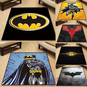 Anime Batman Carpet Square Floor Mat Chair Area Rugs Multi-function Non-slip