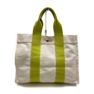 Hermes Tote Bag  Whites Canvas 2004180