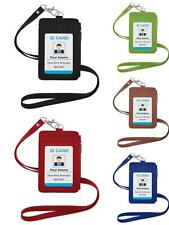 GOGO Credit Card ID Badge Holder with Side Zipper Pocket and Neck Lanyard