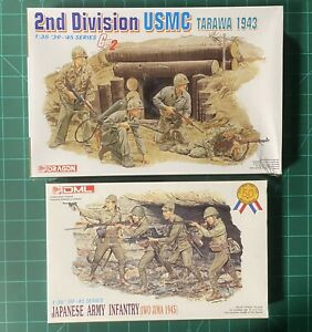 DRAGON 1/35 LOT 2nd DIVISION USMC TARAWA #6272 + JAPANESE ARMY INFANTRY #6044