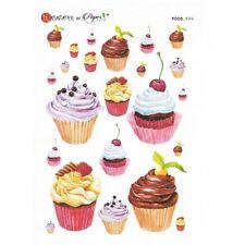 Papier de riz 16x22 cm Cupcakes Decoupage Collage Scrapbooking Carterie