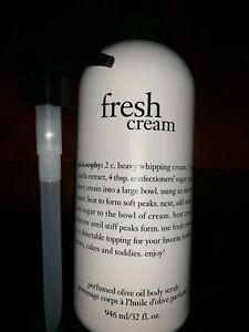 NEW Philosophy Fresh Cream Olive Oil Body Scrub 32 ounce