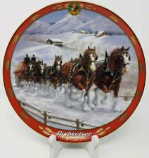 Clydesdales Pride of Budweiser Beer Danbury Mint Susie Morton Plate