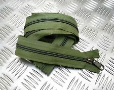 "Genuine British Military YKK 60"" Closed End Green  Zip  Zipper Heavy Duty ZPM23L"