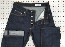 Minty UC! GUSTIN Raw Finish SELVEDGE Jeans STRAIGHT 28x33 actual Dark Blue/Black