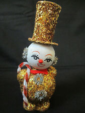 Vintage Paper Mache Snowman Figure from Japan 6 1/4 inches tall