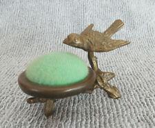 Bronze Sewing Pincusion with Bird