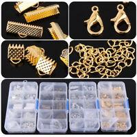 Jewelry Making Starter Kit Set Earring Bracelet Necklace Findings Crafts DIY+Box