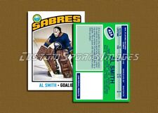 Al Smith - Buffalo Sabres - Custom Hockey Card - 1975-76
