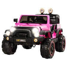 12V Battery Kids Ride on Cars Electric Power 4 Speed Pink w/ Remote Control