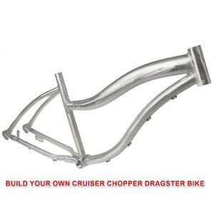 "Dragster Chopper Self Build Aluminium Low Step Unisex Beach Cruiser Frame 26"""