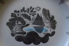 ORIGINAL ERIC RAVILIOUS SAIL BOAT PLATE FOR WEDGWOOD art deco 30s 40s