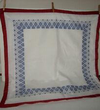 Martha Stewart 2 Euro Pillow Shams Red/White/Blue