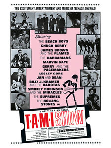 Sixties - T.A.M.I. Show poster reprint (1964)