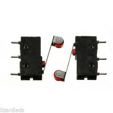 10x Roller Limit Switches 3-Pin NO NC 5A Micro Lever Arm PCB Rated 125V-250V AC