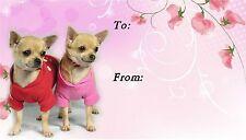 Chihuahua Smooth Coat Dog Self Adhesive Gift Labels by Starprint